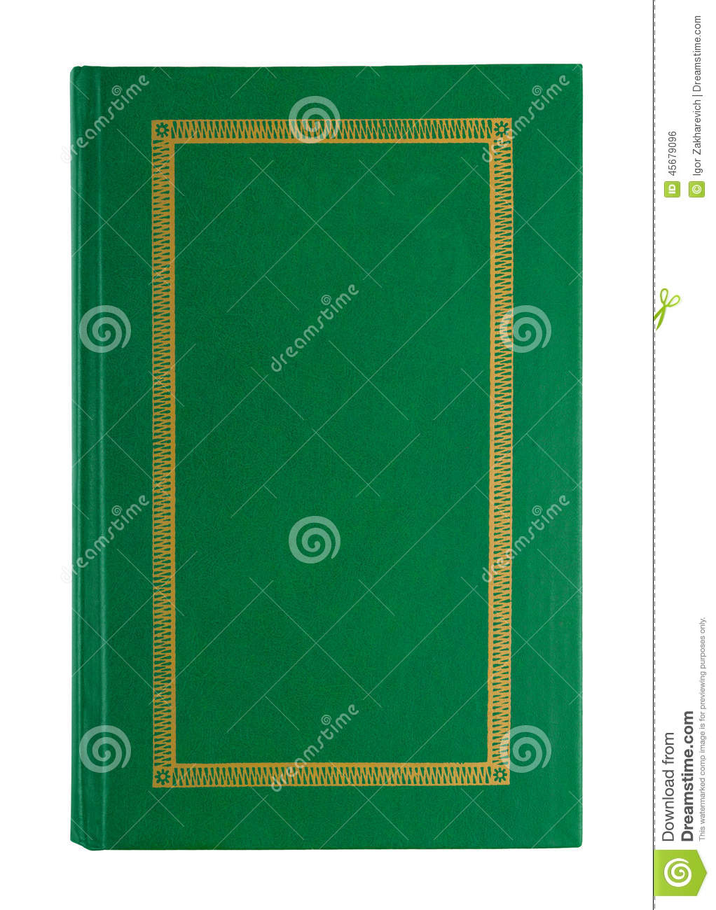 Cookbook With Green Cover : Empty open green book cover stock photo image of dirty