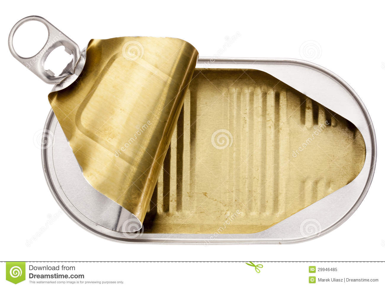 Empty open tin can royalty free stock photo image 29946485 for Empty sardine cans