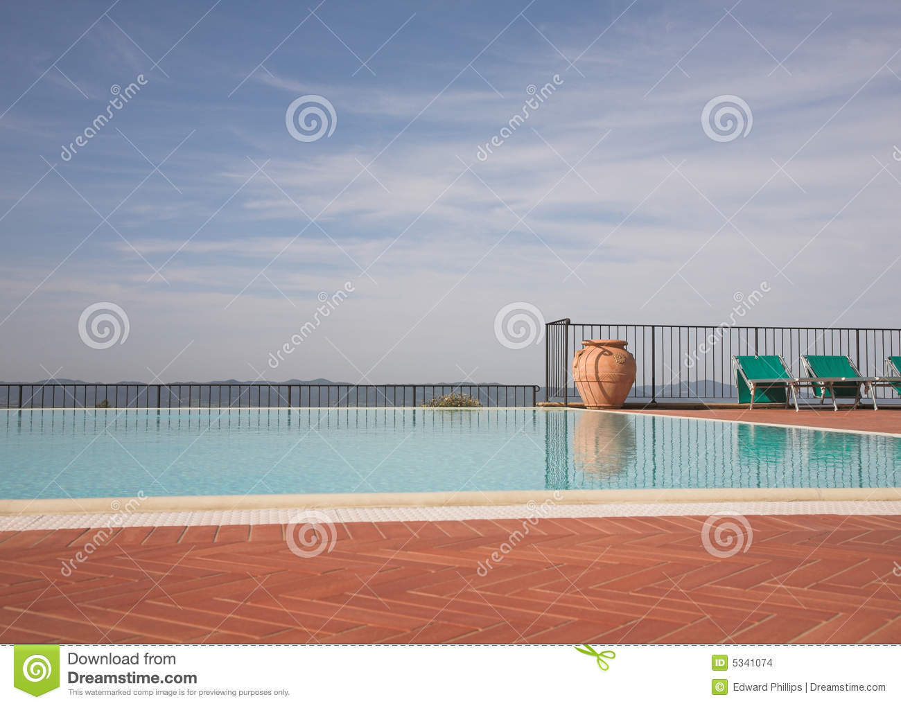 Empty outdoor pool stock images image 5341074 for Empty swimming pool