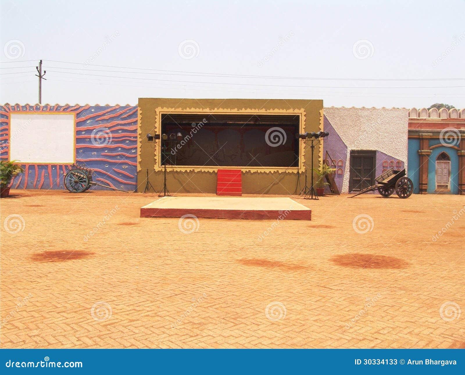 Empty outdoor rock stage - Empty Outdoor Rock Stage