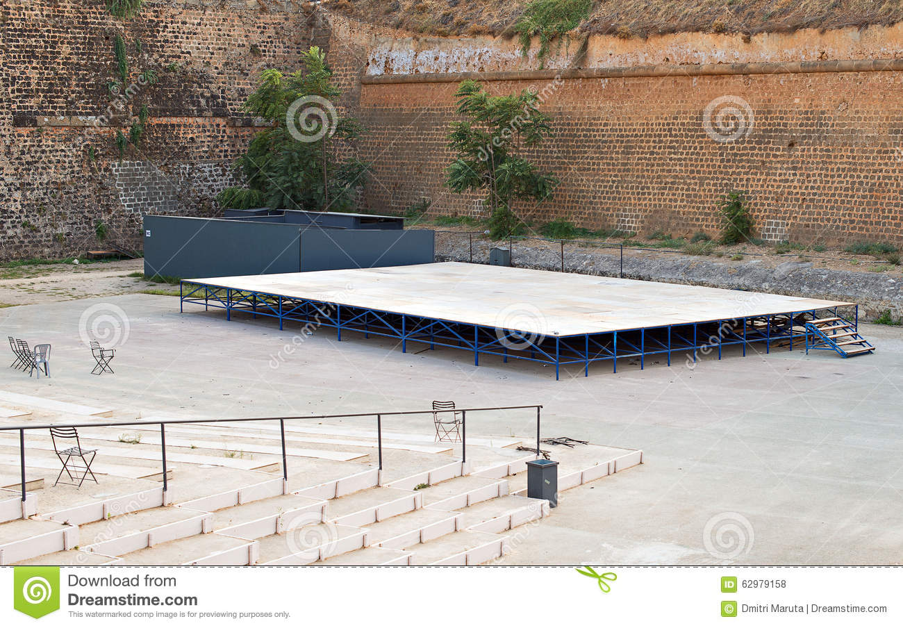 Empty outdoor stage. stock photo. Image of outdoor, empty ...