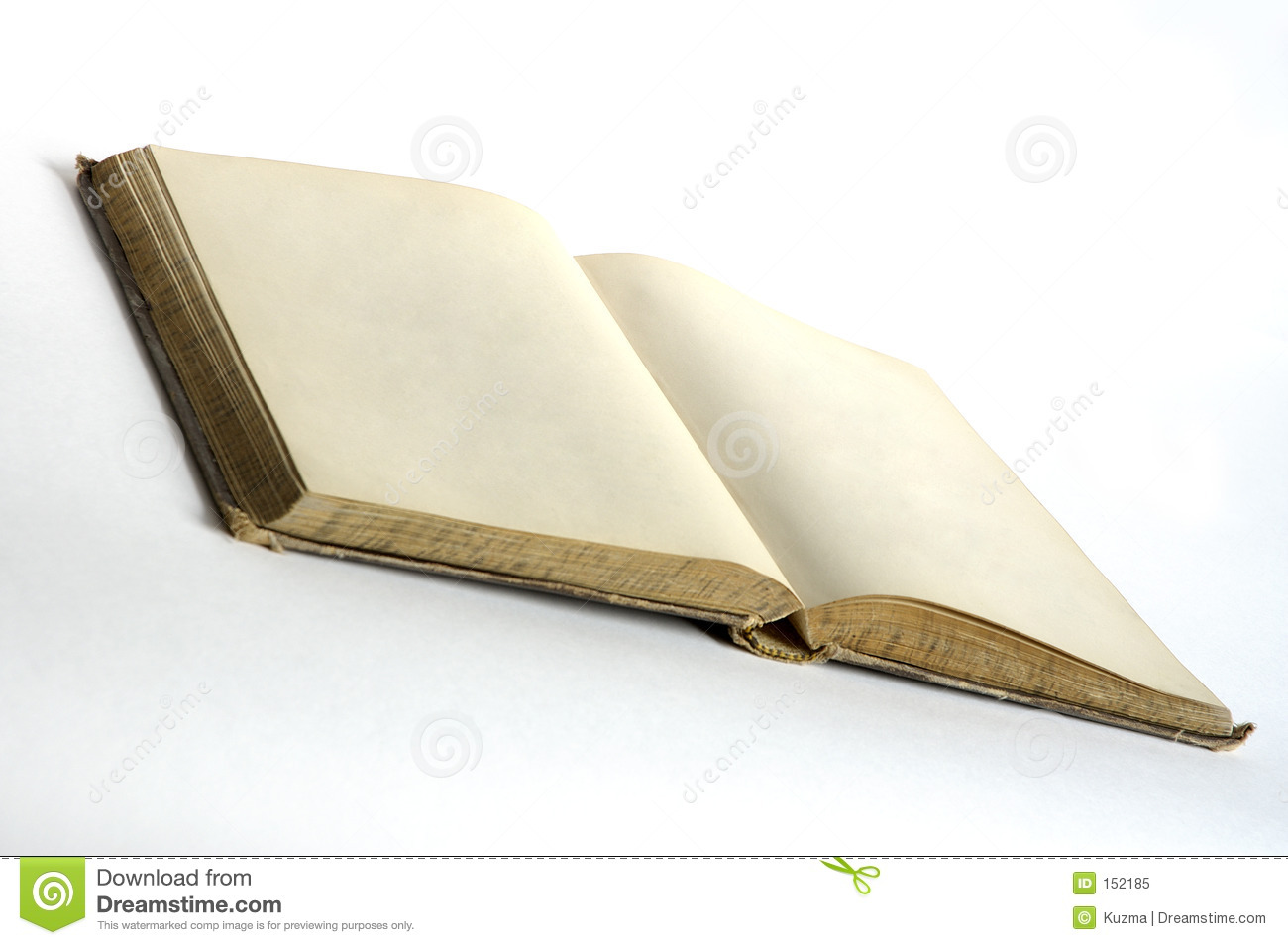 Empty pages in old book