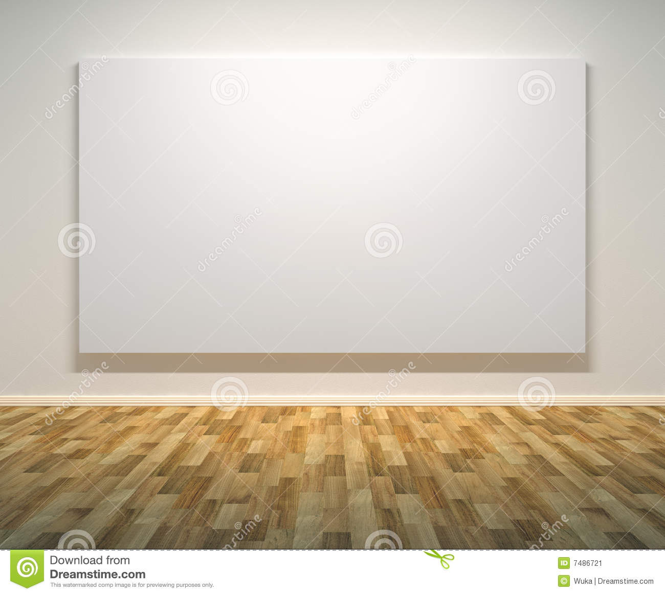 Download Empty Paintings Frame On The Wall Stock Illustration - Illustration of abstract, creative: 7486721