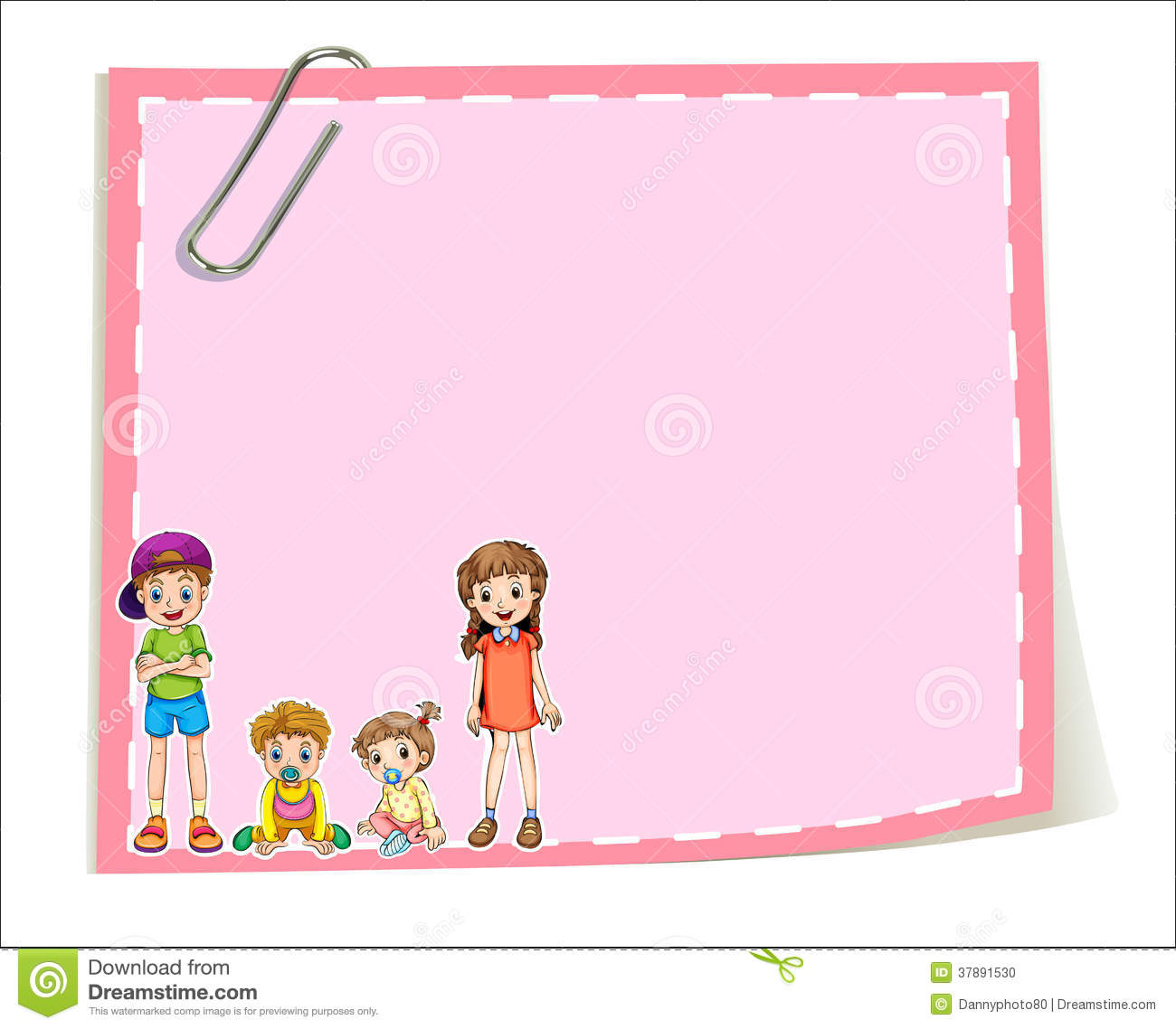 an empty paper templates with children - Templates For Children