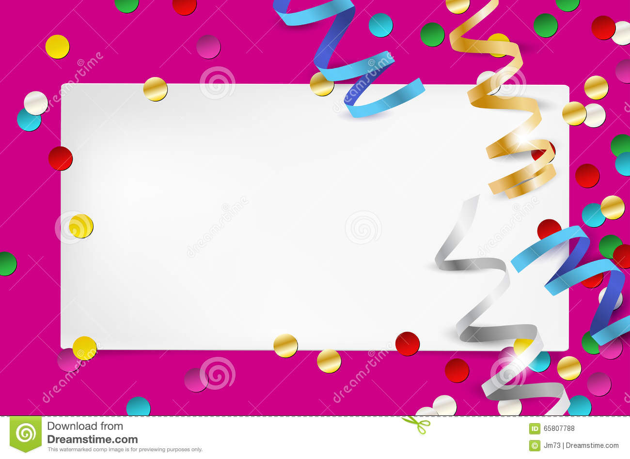 Empty Party Invitation With Paper And Confetti Stock Vector ...