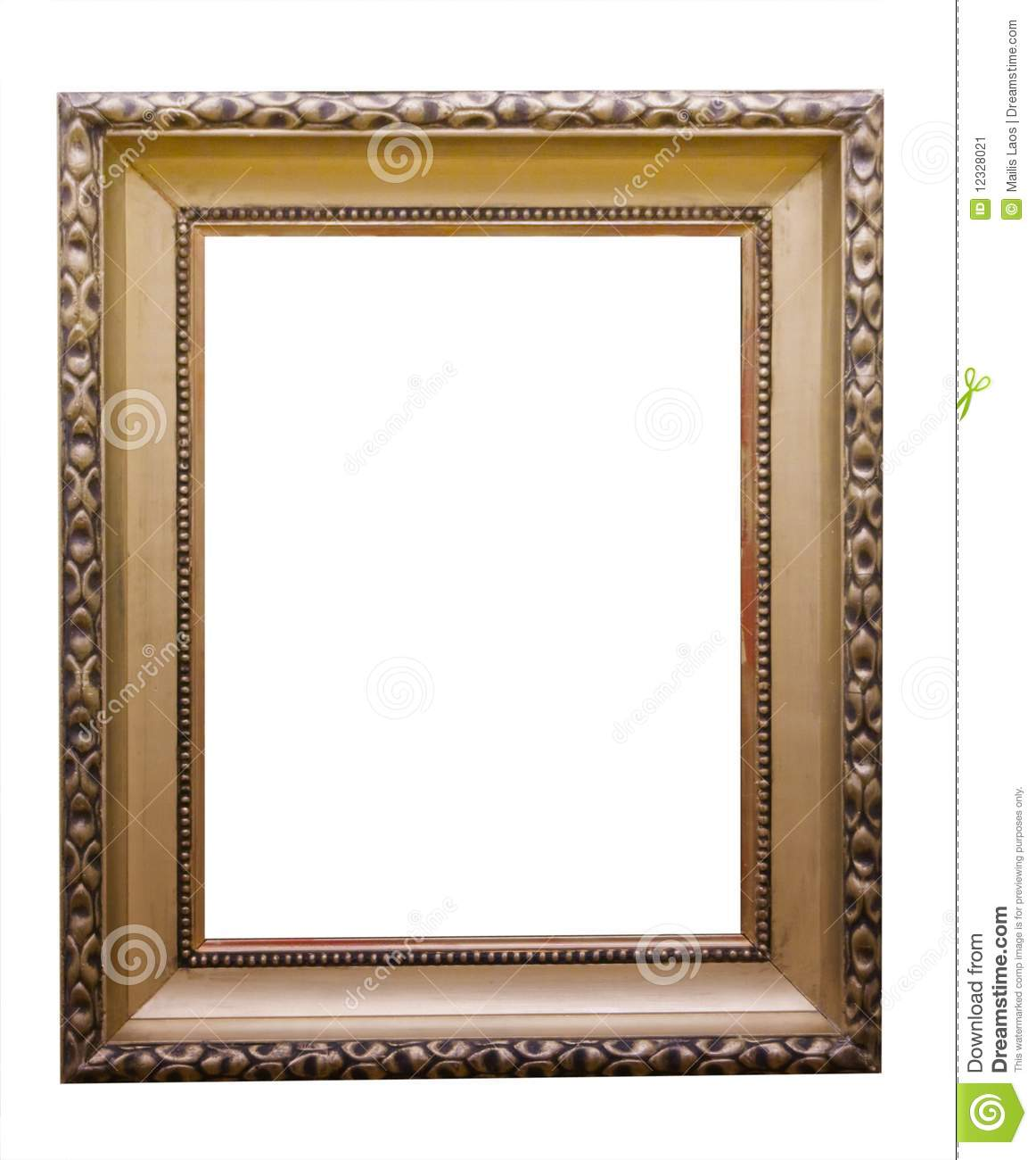 Empty picture frame stock image image of framed gilt for What to do with empty picture frames