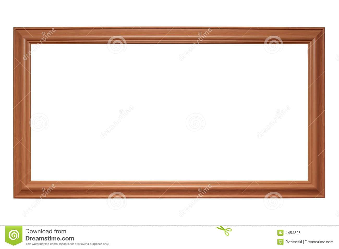 Empty Picture Frame Royalty Free Stock Image Image 4454536