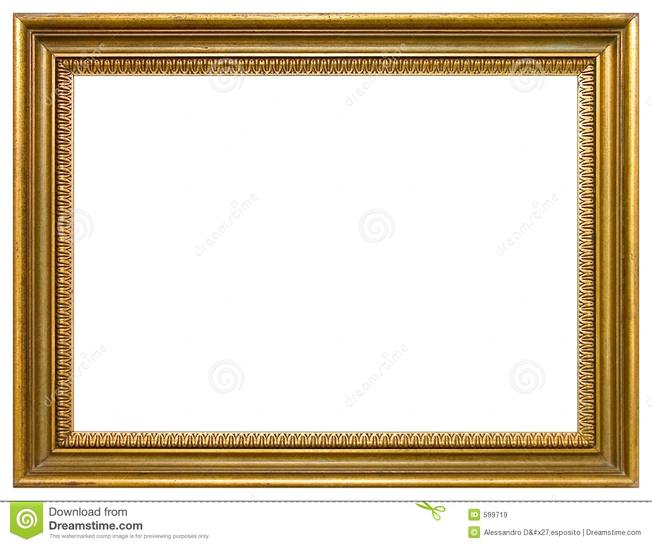 Empty picture frame stock image. Image of bordering, frames - 599719