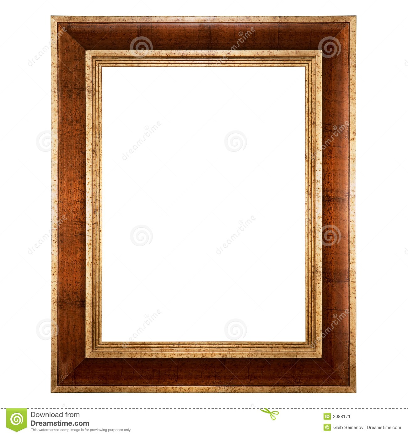 Empty Picture Frame Isolated Stock Image - Image: 2088171