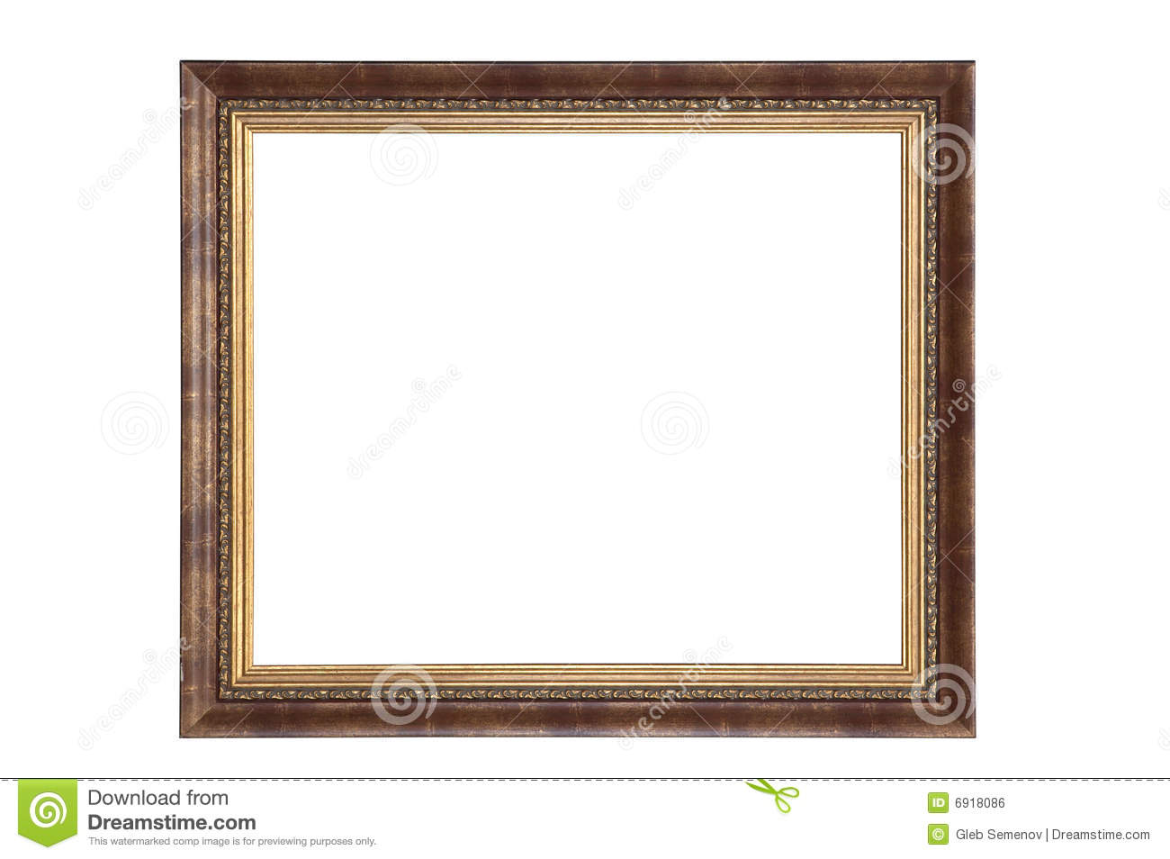 Empty Picture Frame Isolated Clipping Path Royalty Free ...