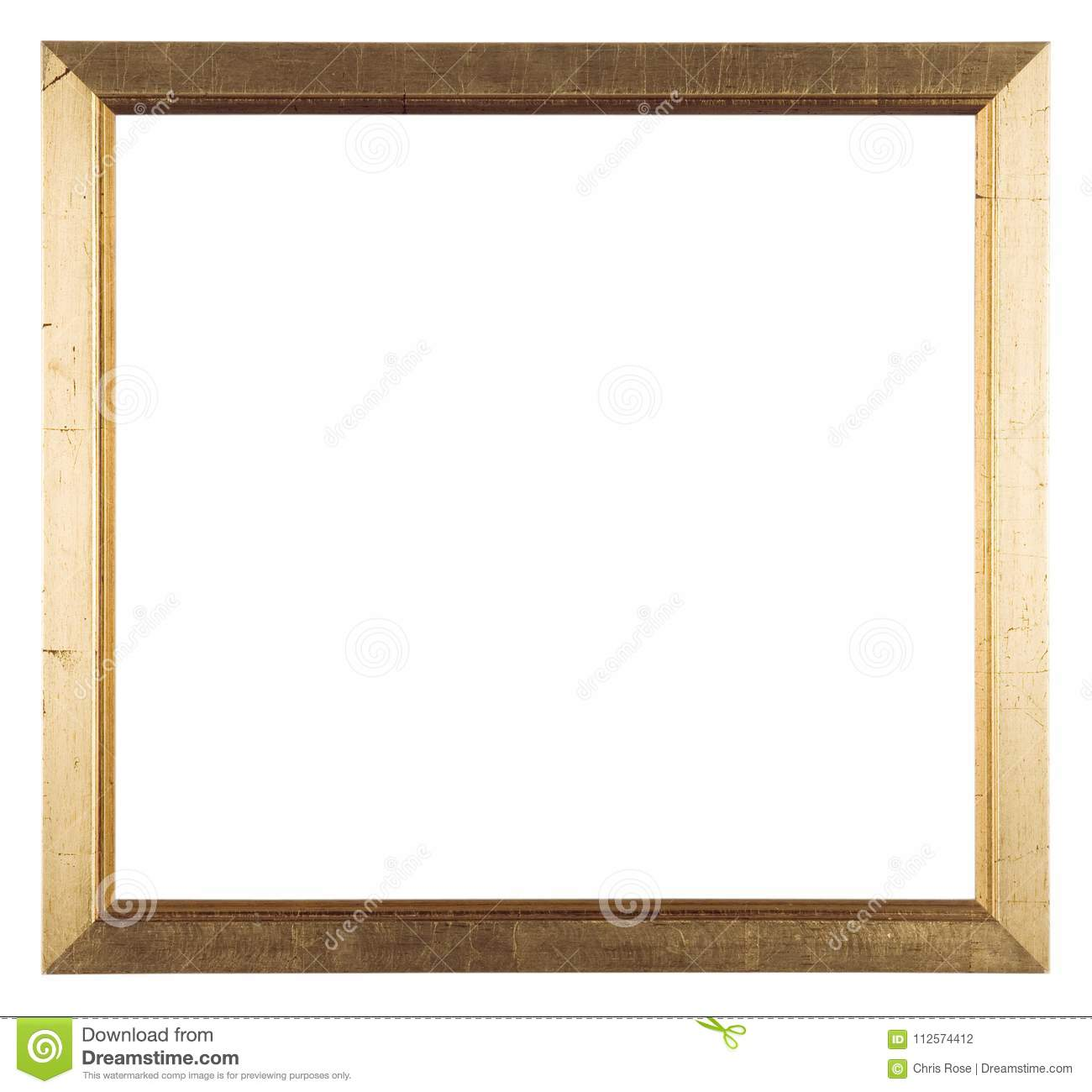 Empty picture frame stock photo. Image of artwork, gilt - 112574412