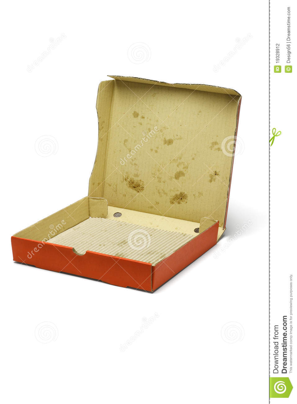 Empty Pizza Delivery Box Stock Photography - Image: 19328912