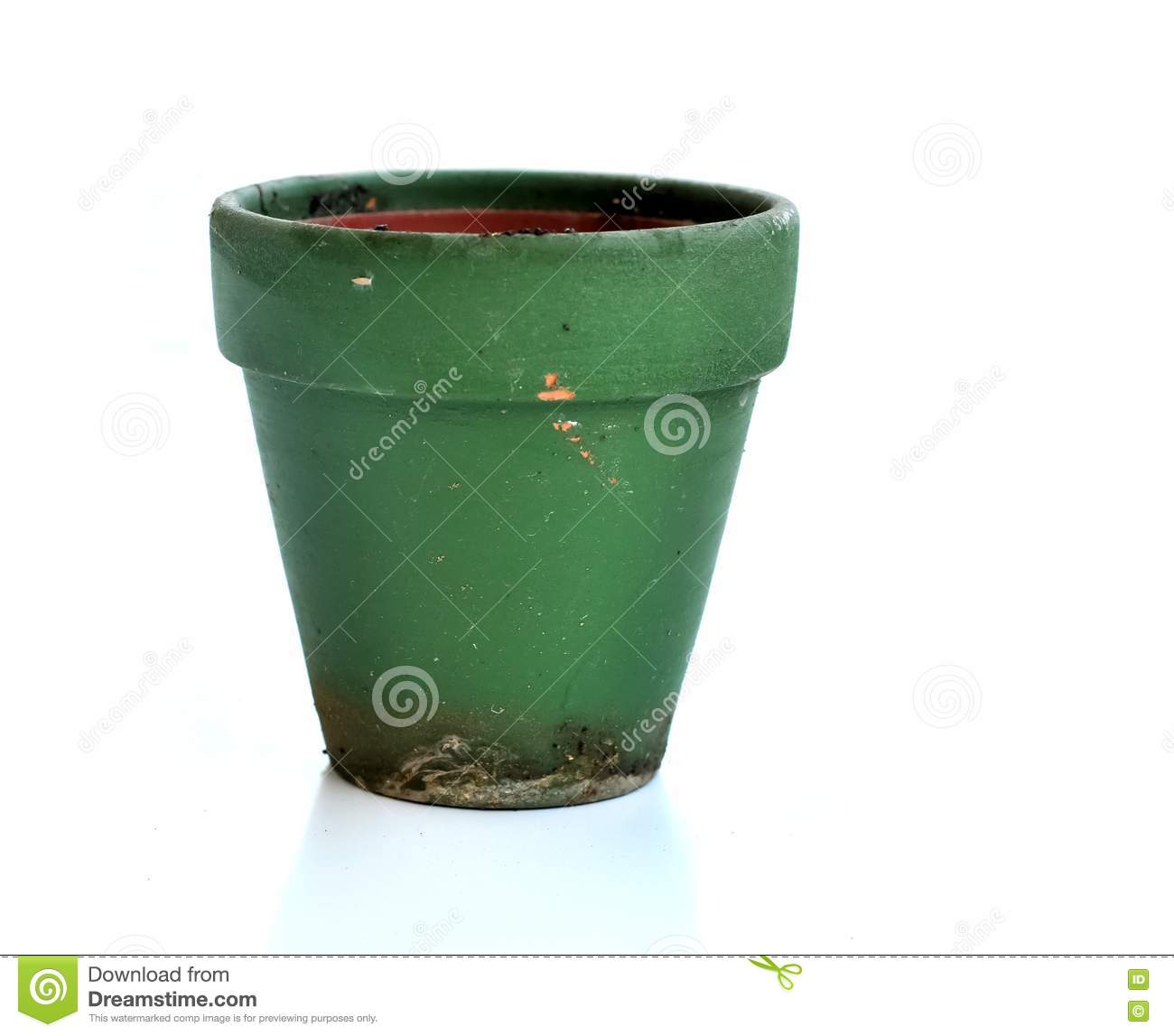 Empty Plant Pot 0027 Stock Image Image Of Pots Small