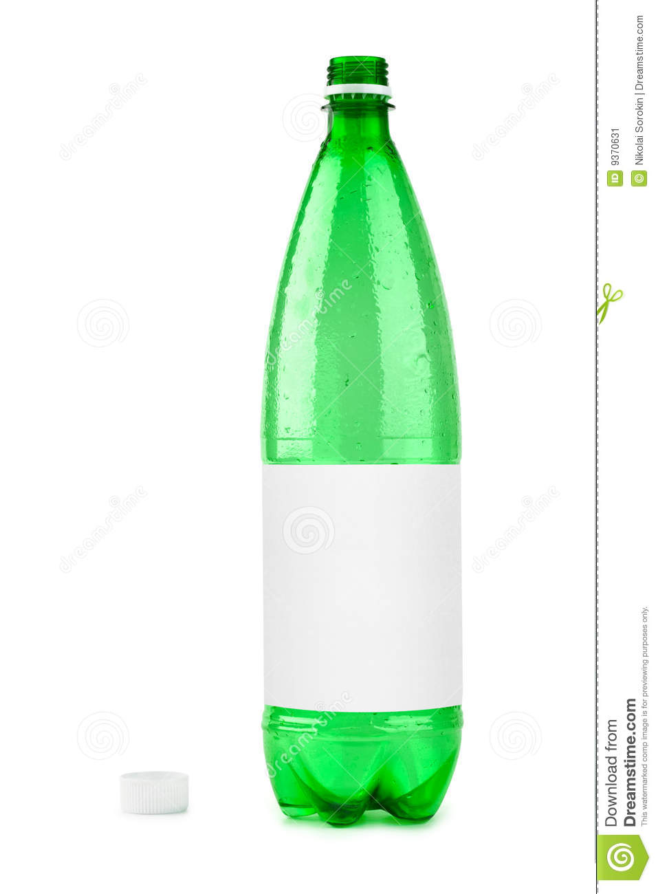 Empty plastic bottle with blank label stock image image for What to do with empty plastic bottles