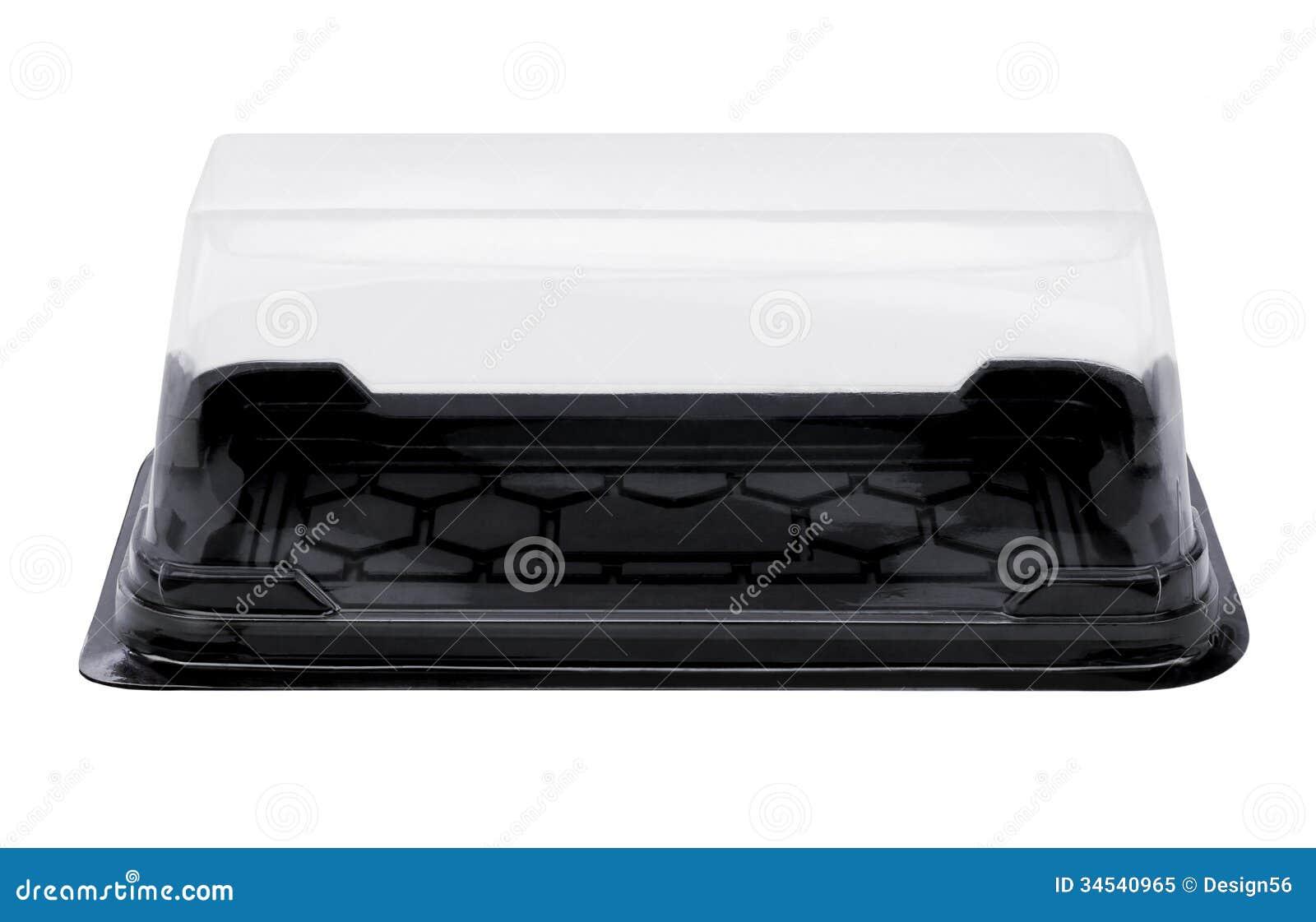 Empty Plastic Cake Box Stock Image Image Of Storage