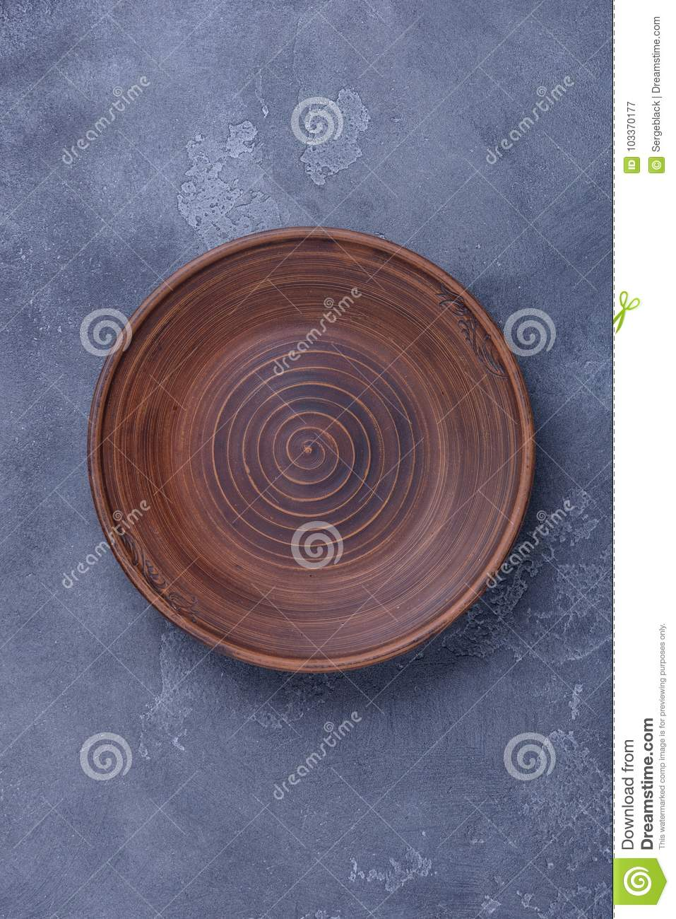 empty plate on dark background stock image image of rough view