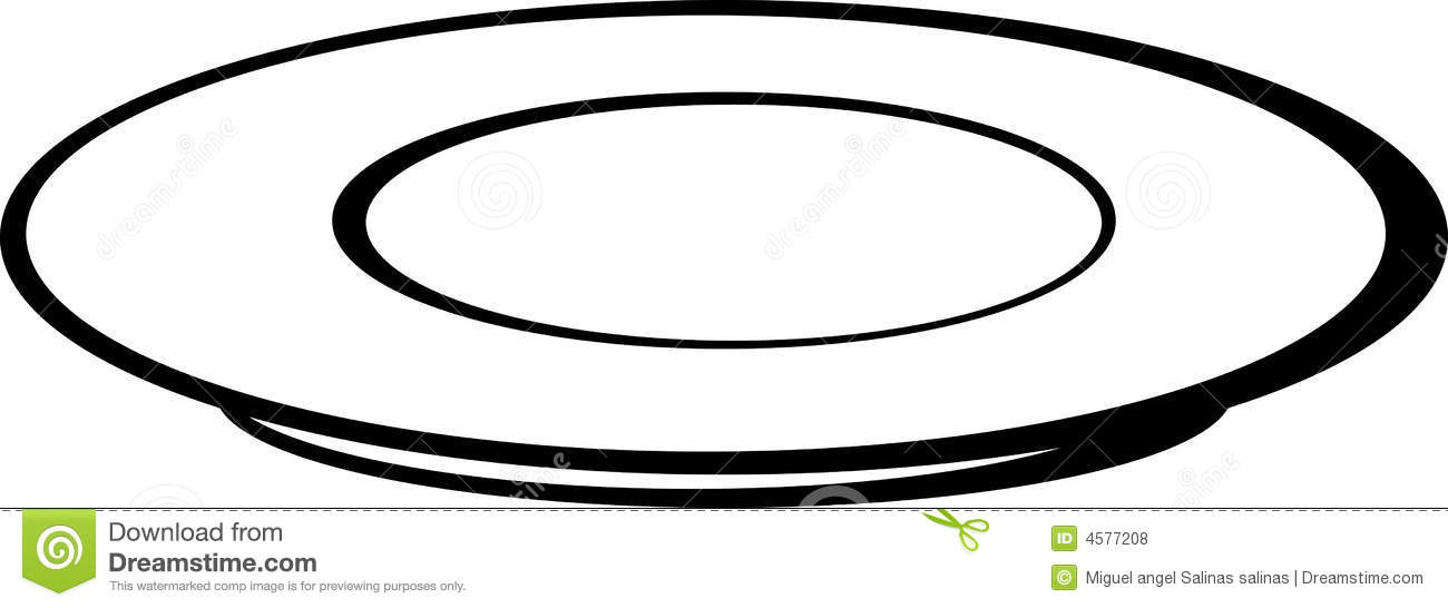 Empty Plate Or Dish Vector Illustration Stock Vector