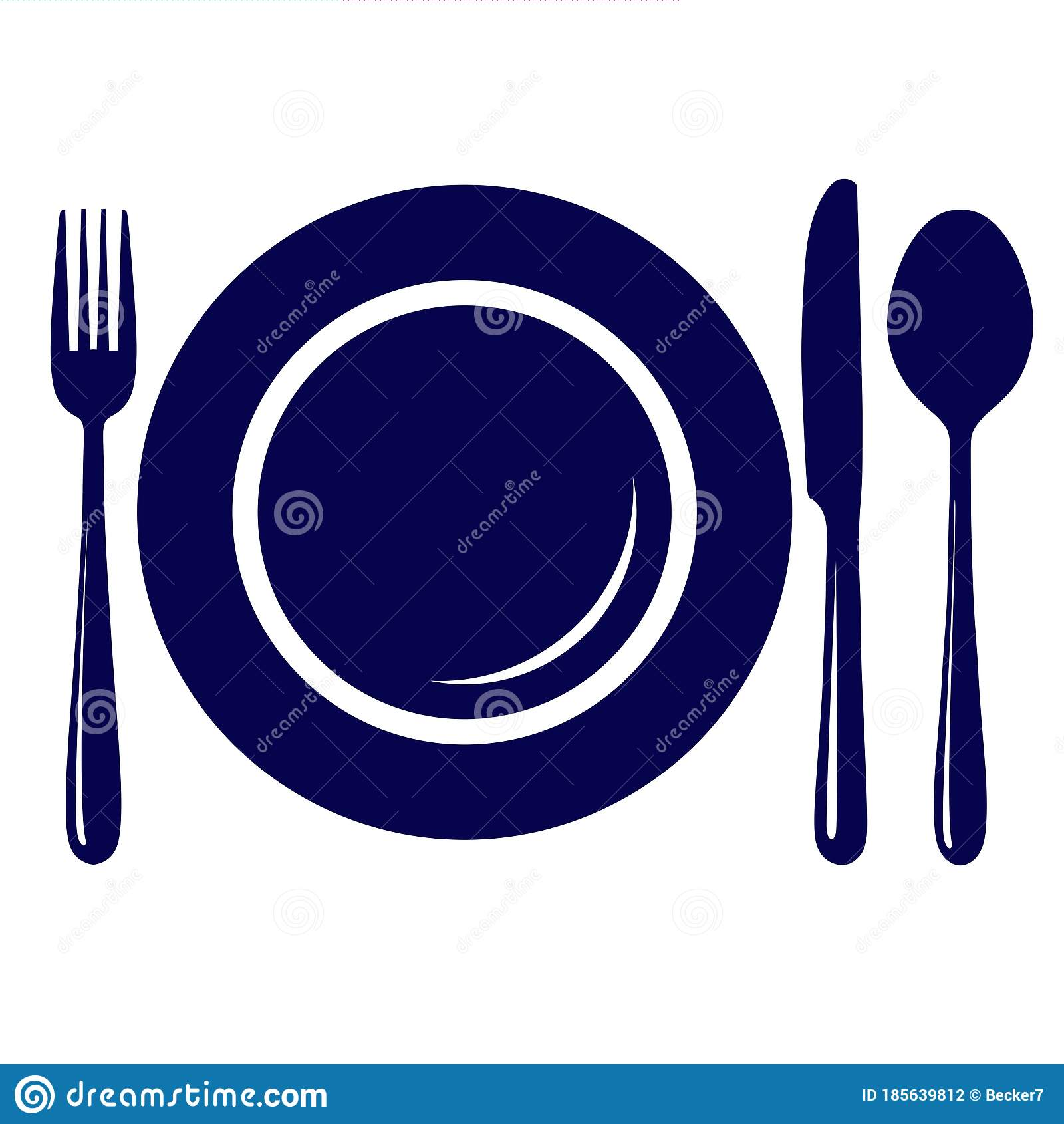 empty plate with knife fork and spoon icon symbol sign isolated on white background stock vector illustration of dinner design 185639812 empty plate with knife fork and spoon icon symbol sign isolated on white background stock vector illustration of dinner design 185639812