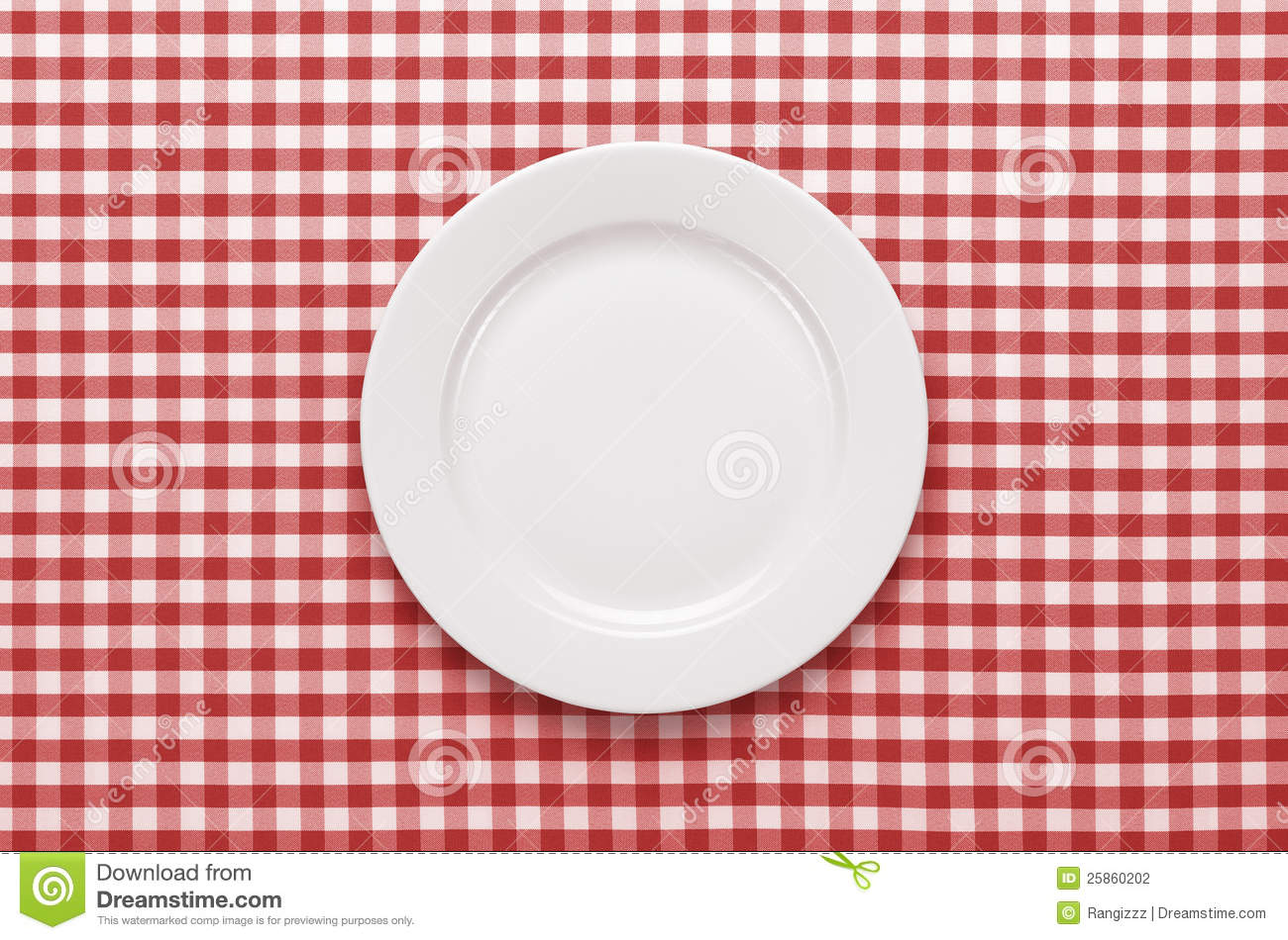 Empty Plate At The Table Stock Photo Image Of Food