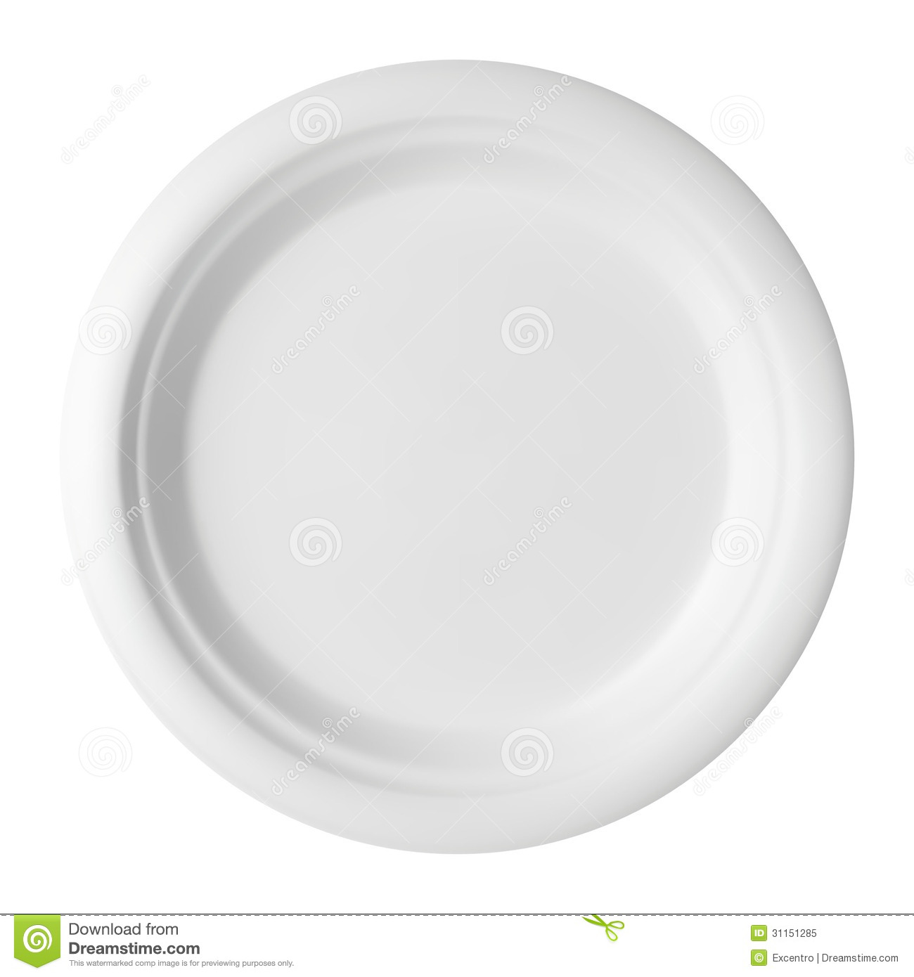 Empty plate stock vector. Image of kitchen, dishware ...
