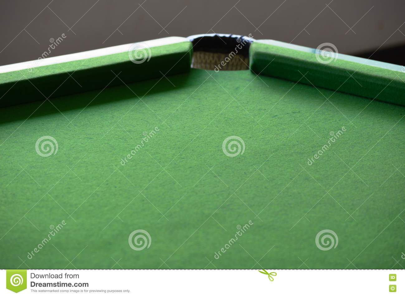 Empty pool table stock photo image 71725766 - Pool table green felt ...