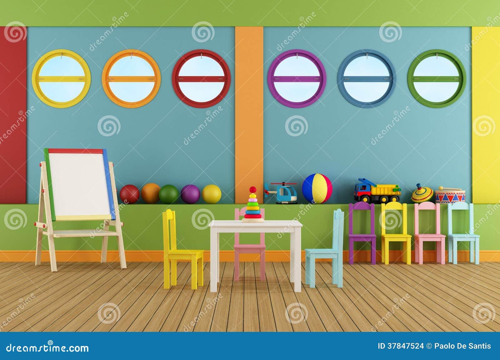 Empty Preschool Classroom Stock Images Image 37847524