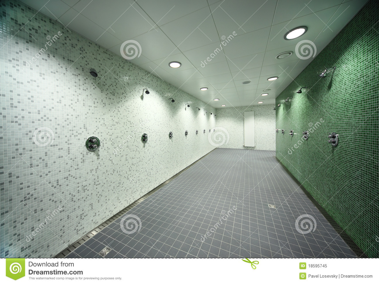 Empty Public Shower Room Royalty Free Stock Photo Image