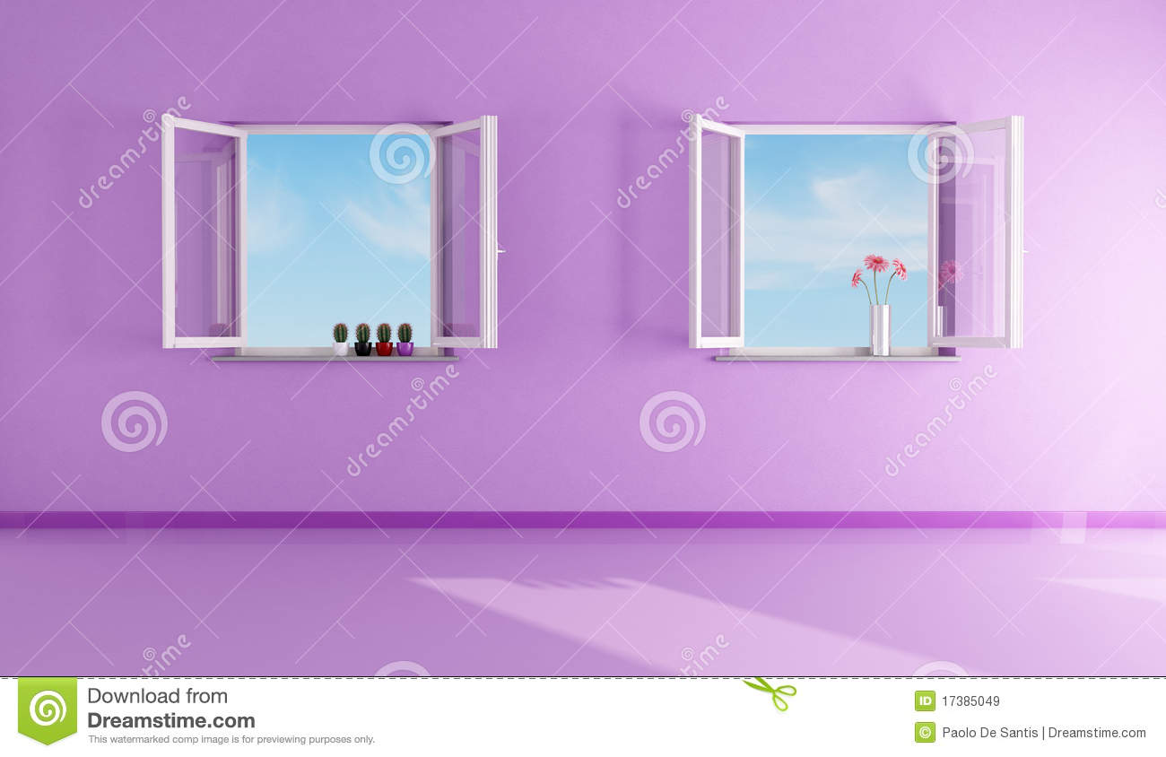 Purple Living Room Empty Purple Living Room Royalty Free Stock Images Image 17385049