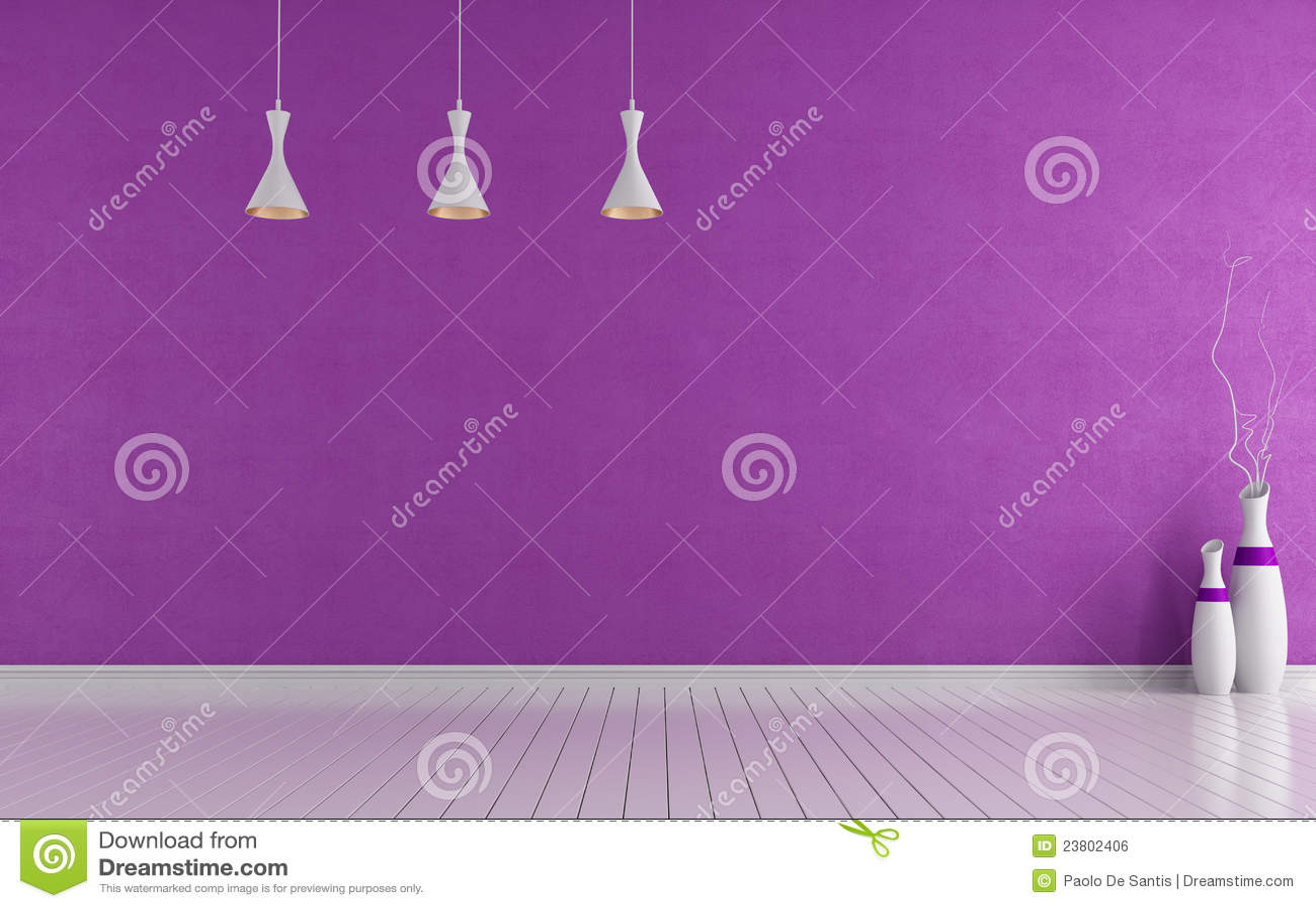 Purple Room Empty Purple Room Stock Photography Image 34156492