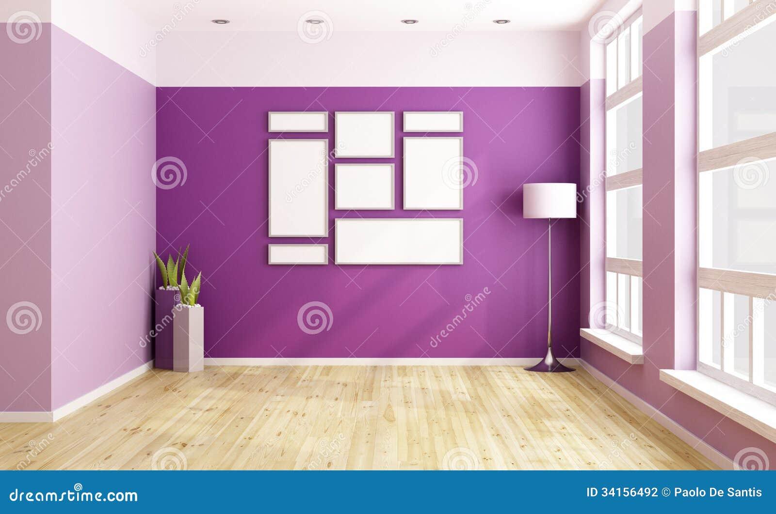 Empty Purple Room Stock Photography Image 34156492