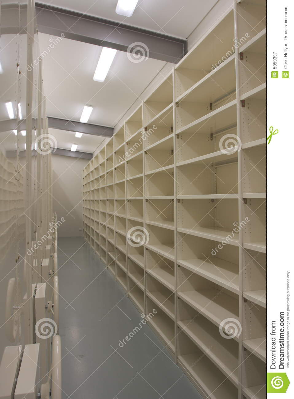 Empty records storage room royalty free stock photography for Free room organizer