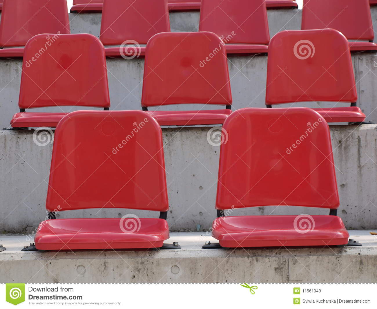 Stadium chair amp stadium bleacher chairs sportsunlimited com source - Bleacher Empty Red Seats Empty Red Bleacher Seats Royalty Free Stock Images