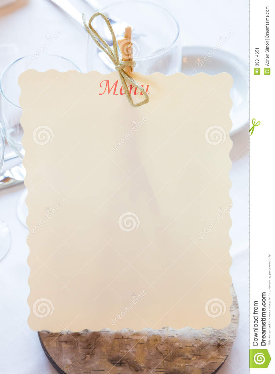 empty restaurant menu stock image image of outline