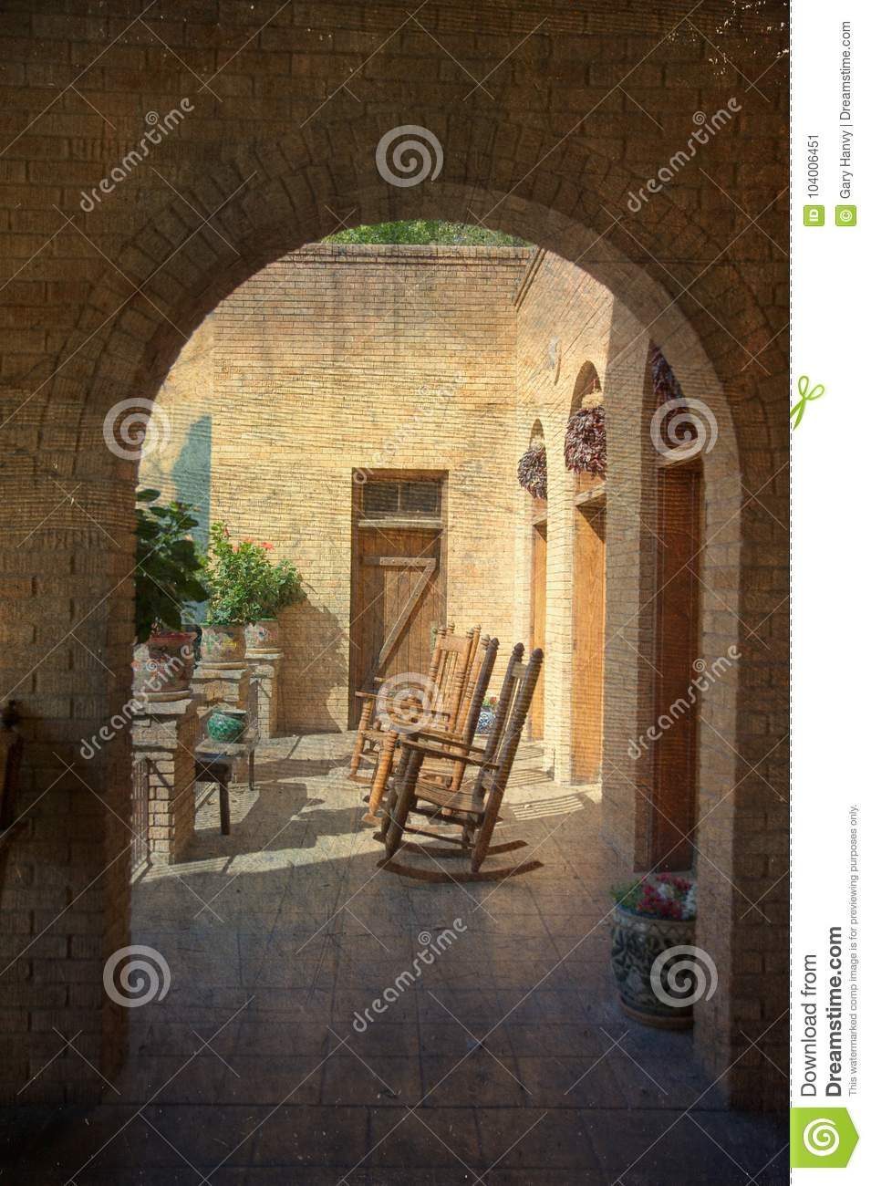 Fantastic Empty Rocking Chairs On Hotel Veranda Stock Image Image Of Unemploymentrelief Wooden Chair Designs For Living Room Unemploymentrelieforg