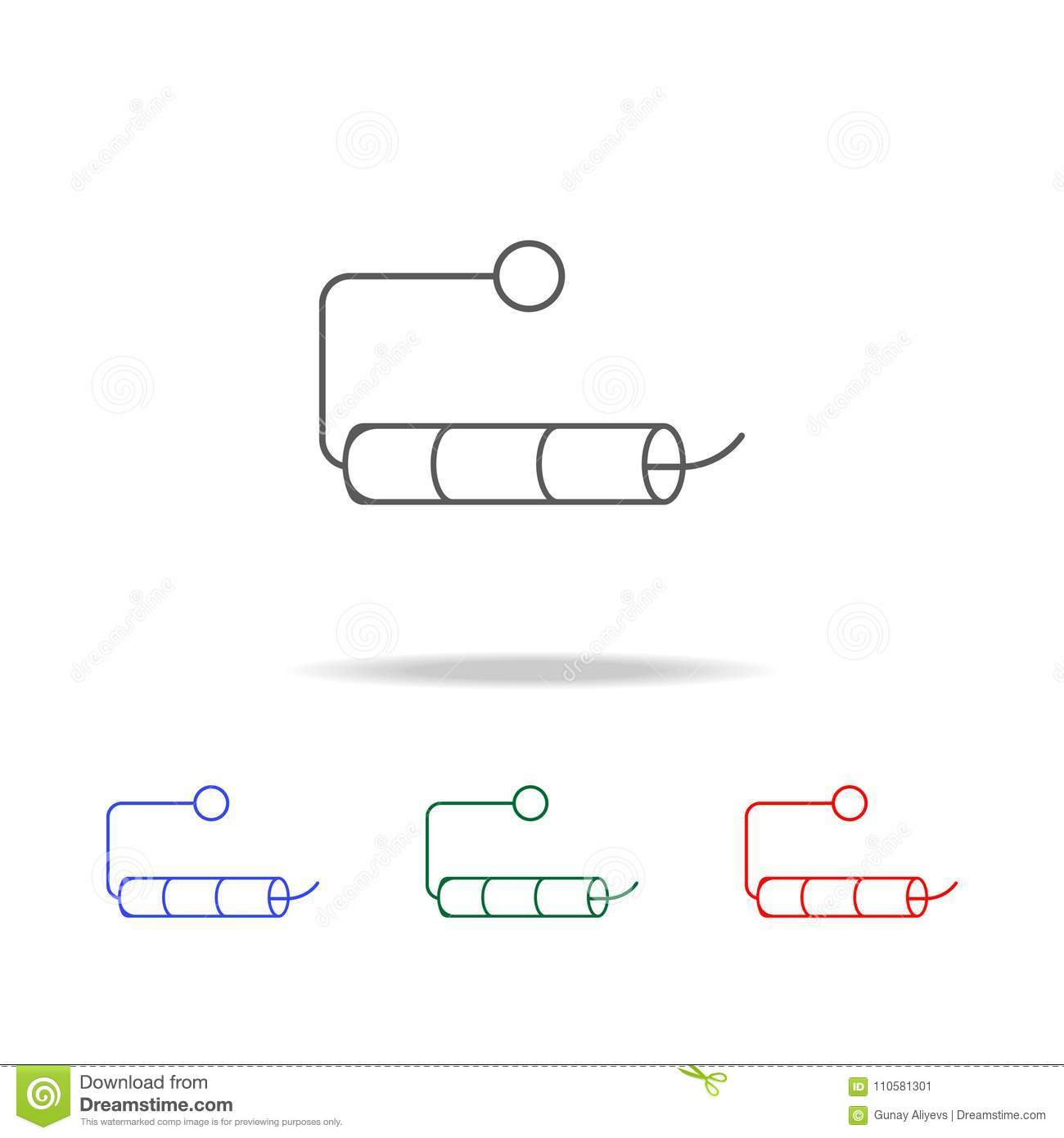 Empty Roll Of Toilet Paper Icon. Elements In Multi Colored Icons For ...