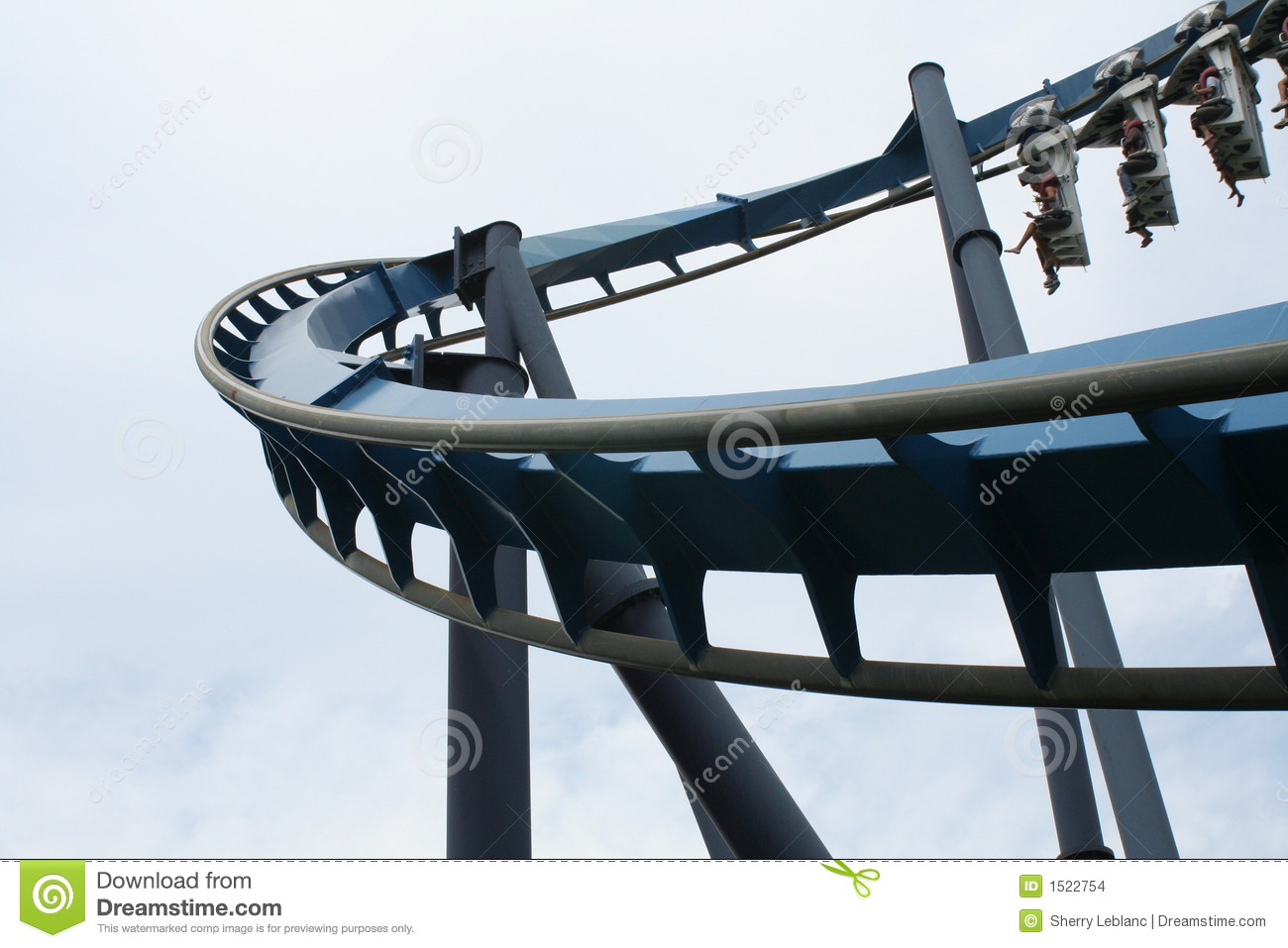 Empty Roller Coaster Stock Images - Image: 1522754