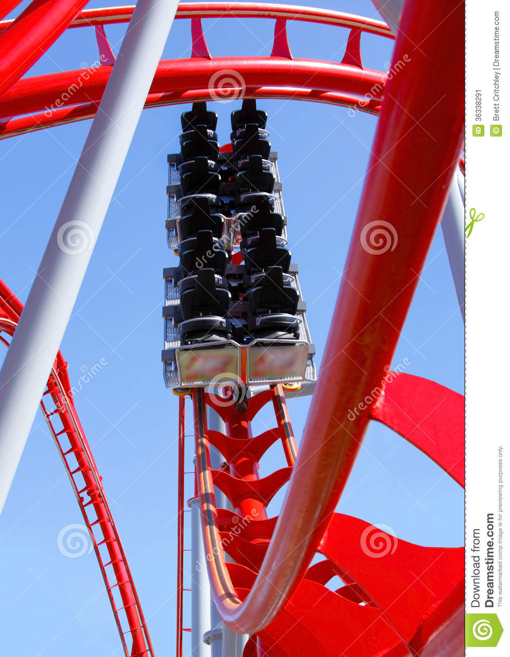 Empty Roller Coaster Stock Image - Image: 36338291