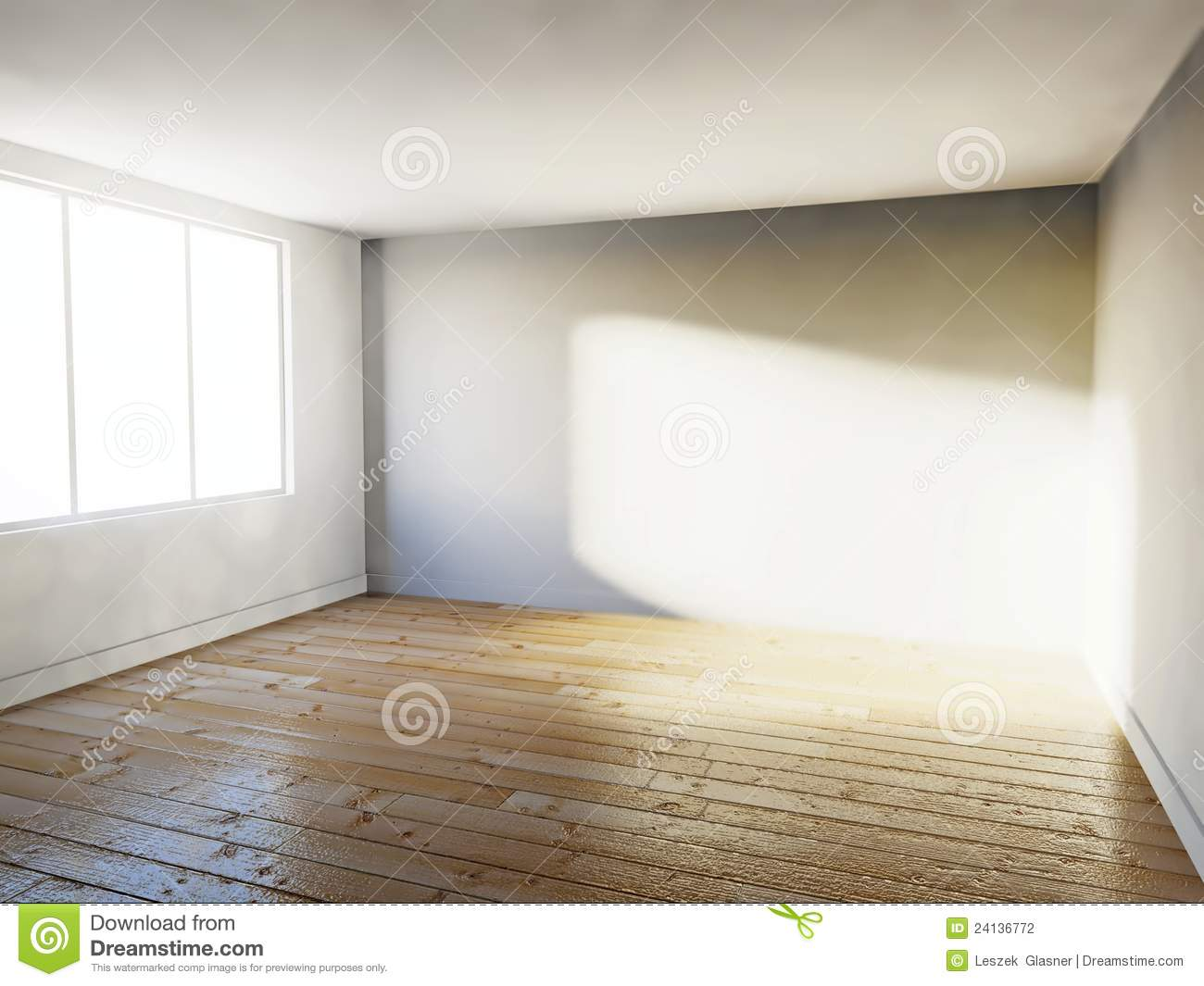 Empty Room 3d House Interior Stock Photography Image