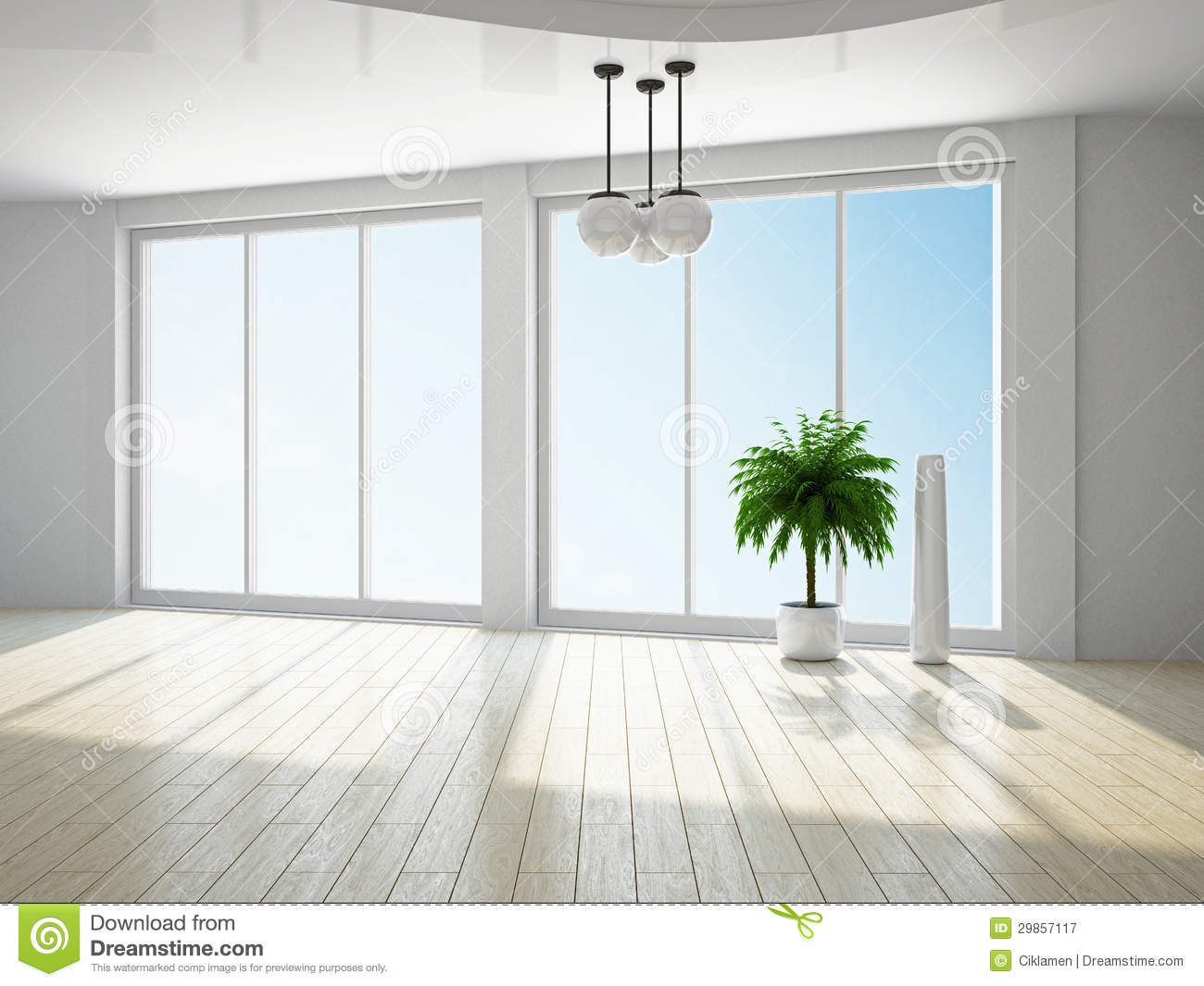Empty Room With Window Royalty Free Stock Photography