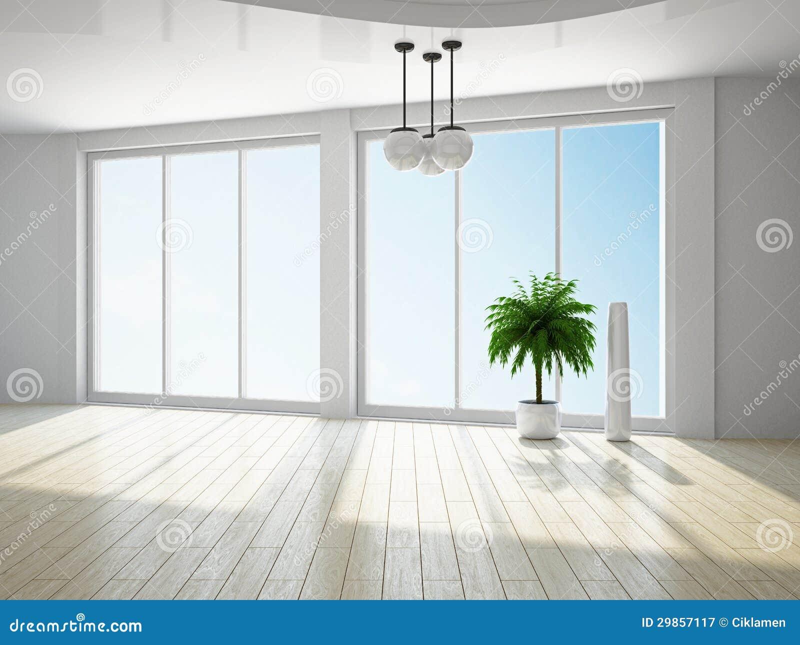 Empty Room With Window Stock Illustration Illustration Of