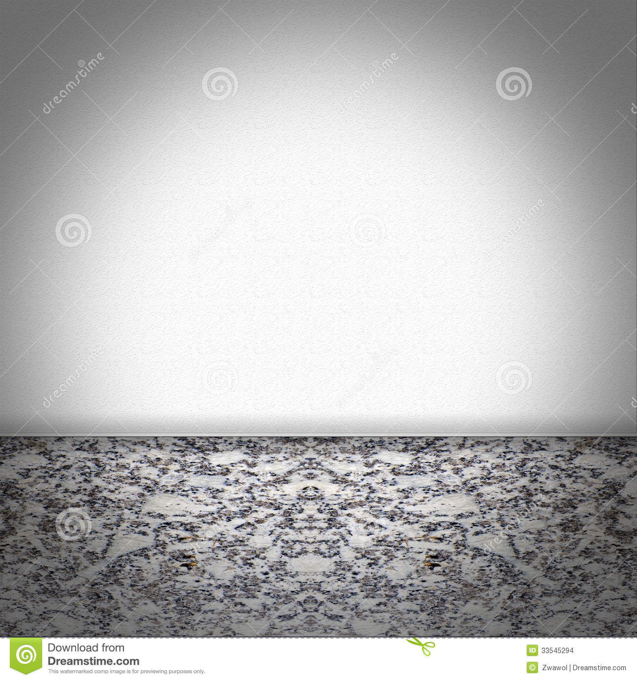 Empty Room With Black And White Marble Floor Stock Images Image 33545294