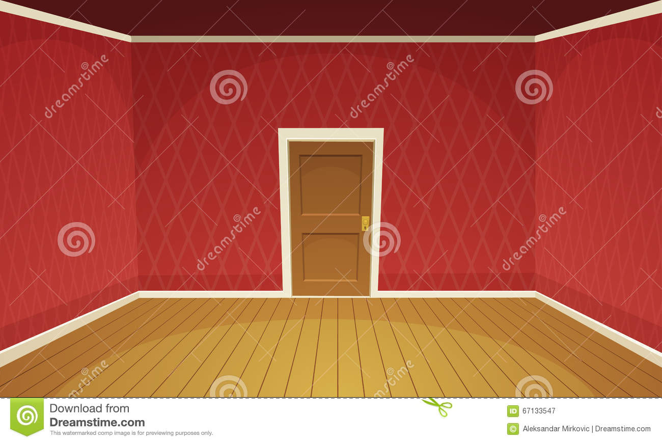 Empty room stock vector image of illustration indoor for Image of a room