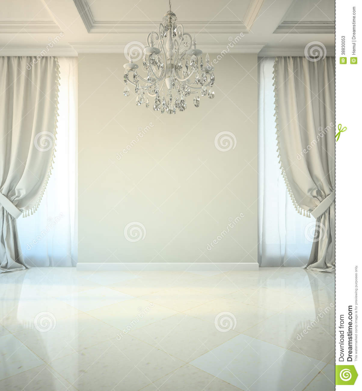 Empty room in classic style stock illustration illustration of empty room in classic style arubaitofo Images