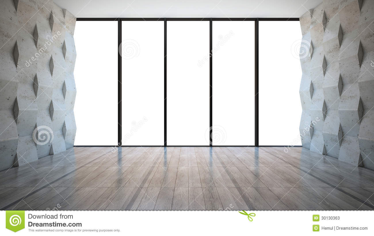 Empty Room With Wall Panels Stock Photos Image 30130363