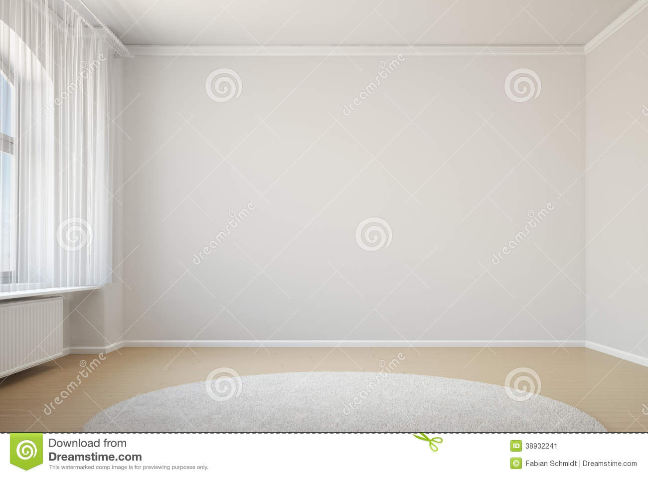 Empty living room with carpet - Royalty Free Stock Photo Download Empty Room With Curtain And Carpet