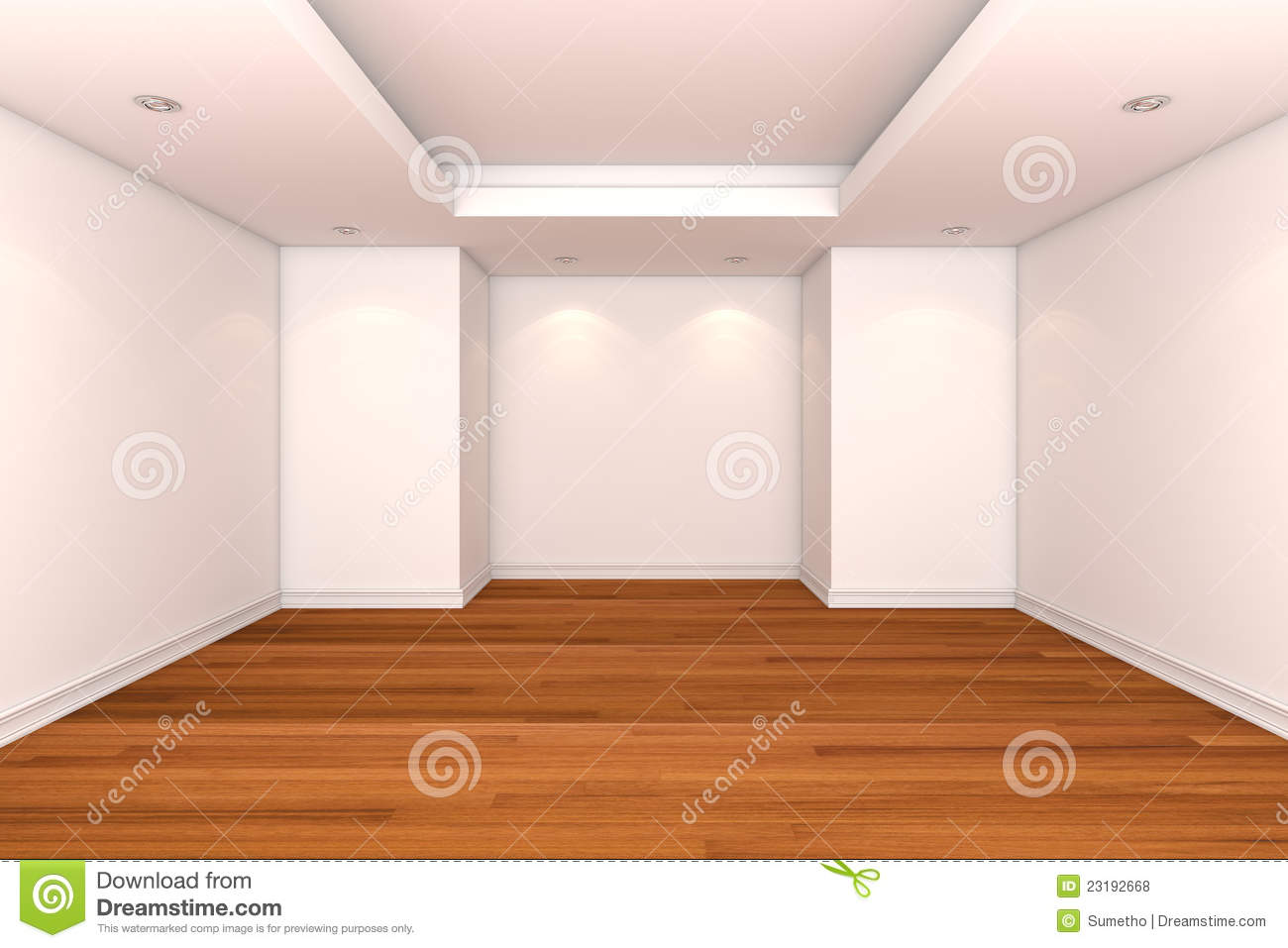 Empty Room Decorate Color Wall Stock Illustration