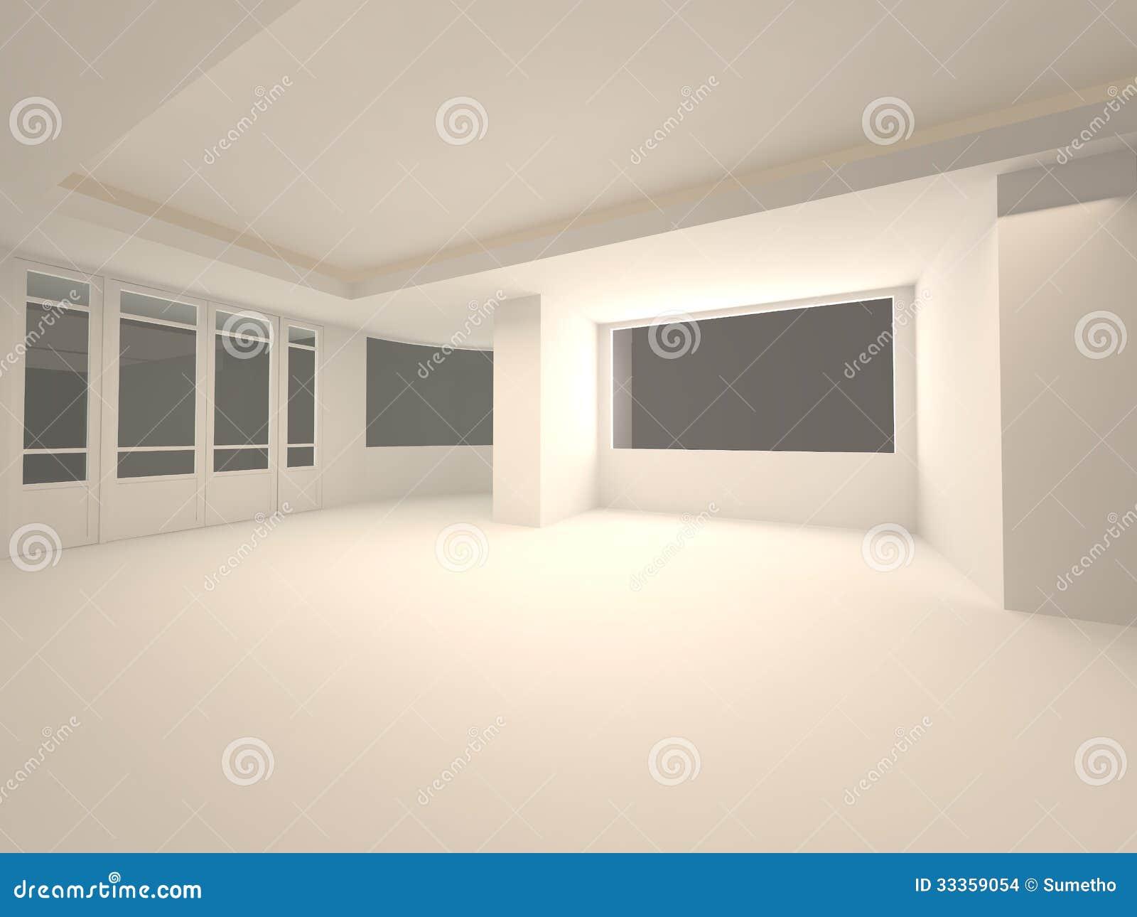 empty interior scene with door stock photo - image: 48772674