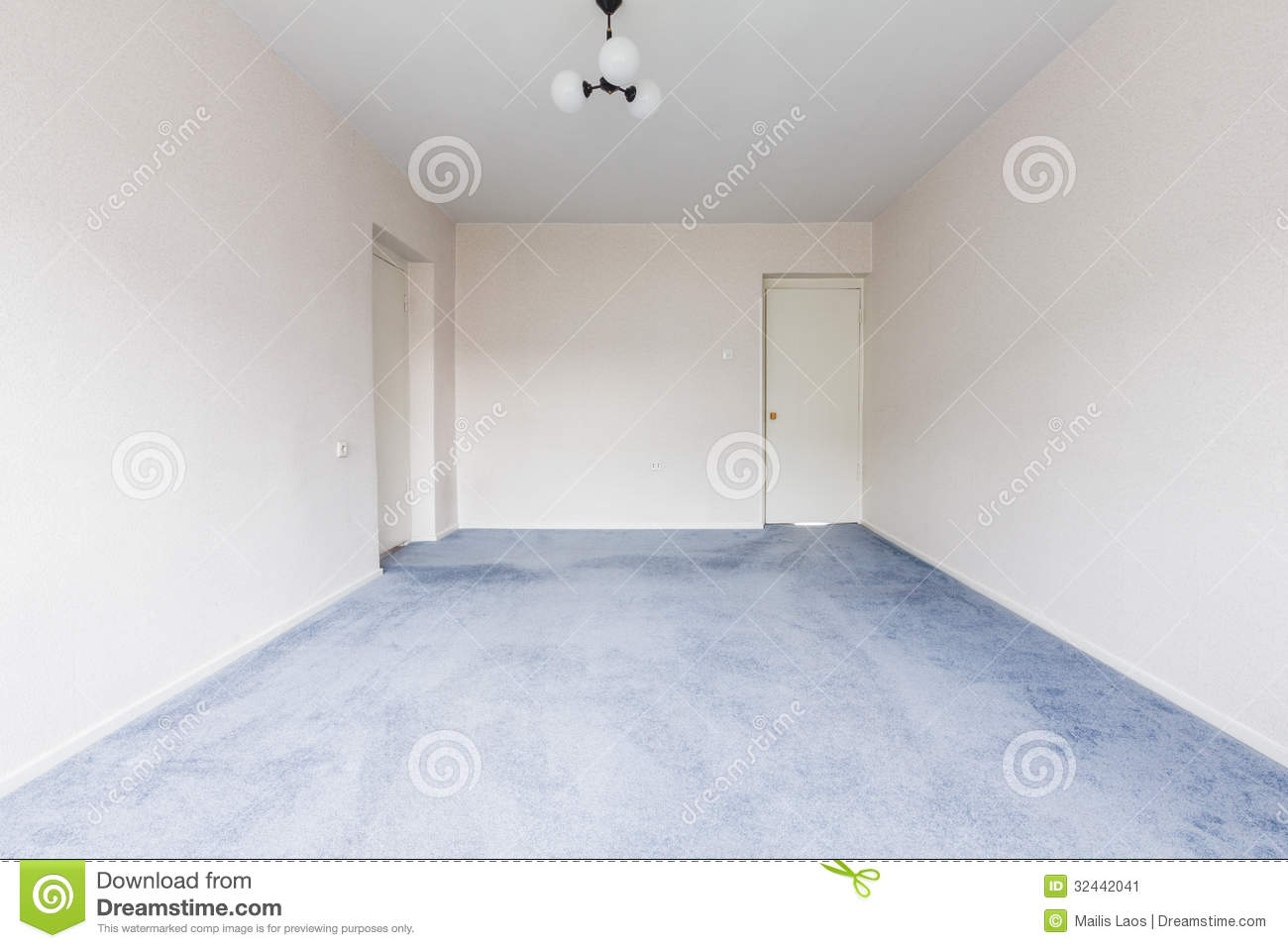 Empty Room stock image Image of white space interior 32442041