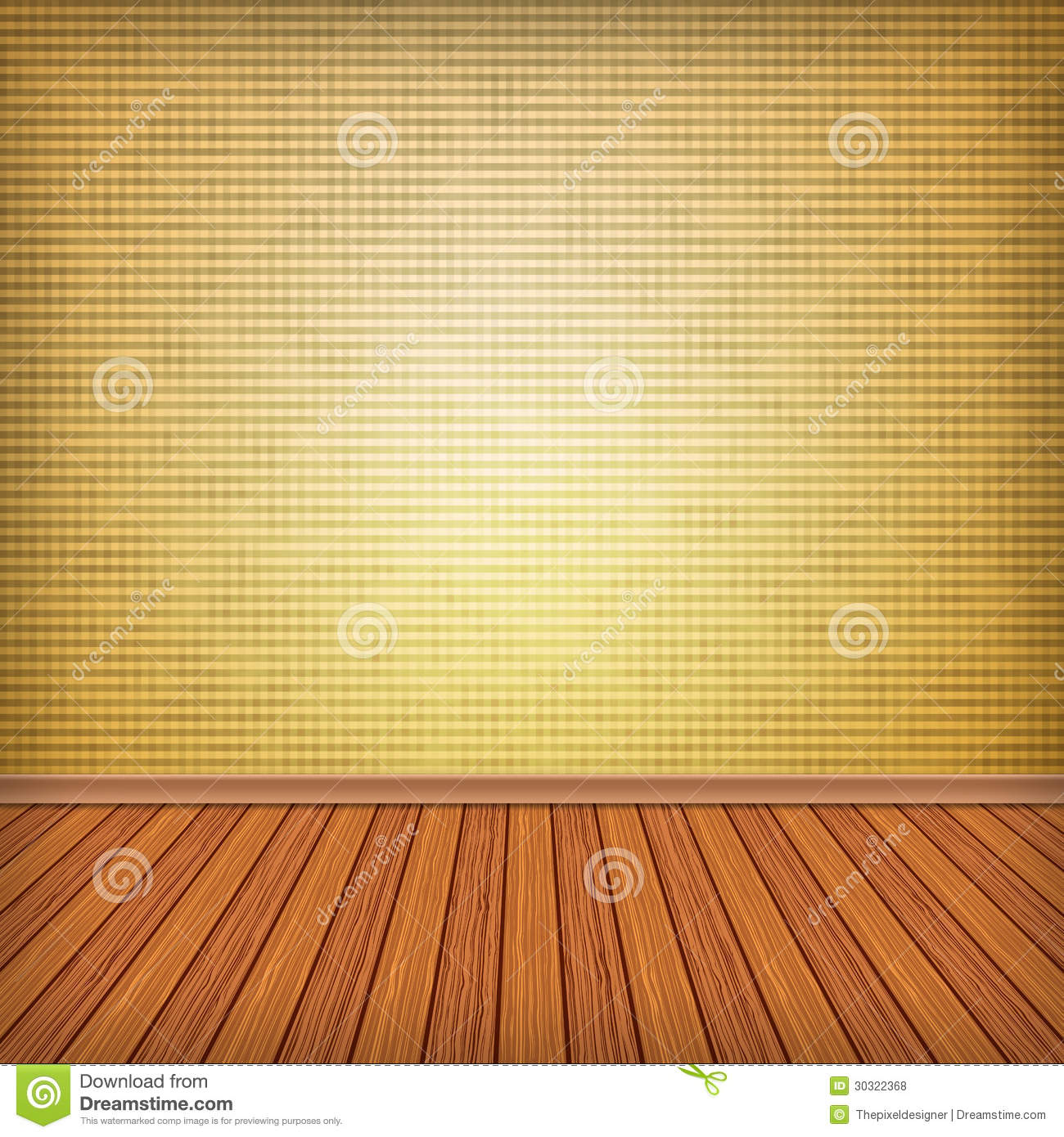 Empty Room Interior With Wallpaper Royalty Free Stock
