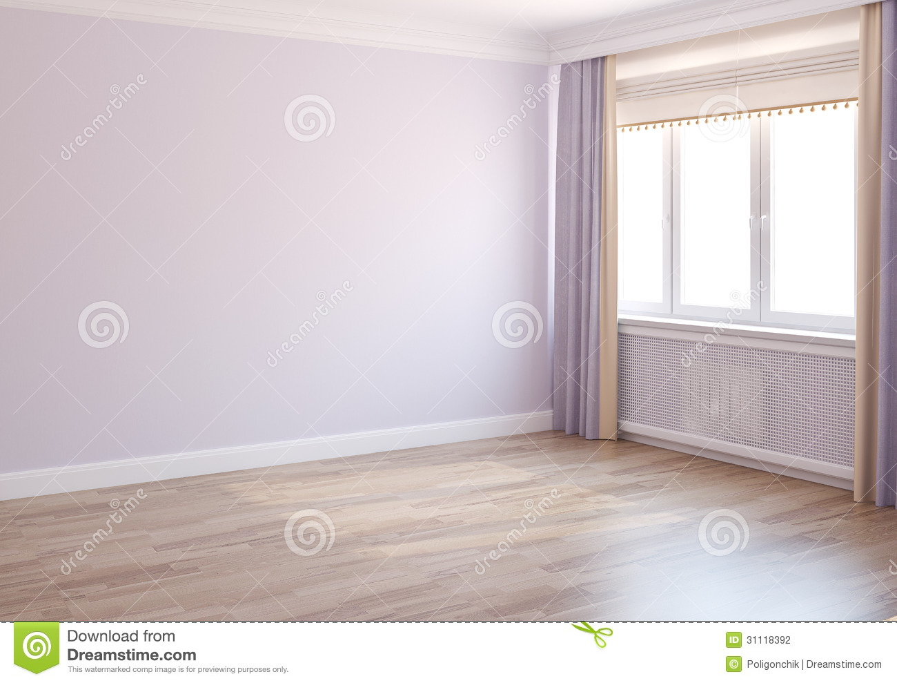 Stock Photography Empty Room Interior Window D Render Image31118392 on Apartment 2 Bedroom House Plans